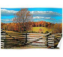 Autumn, Rural Farm Land Scenery Print Poster