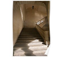 Stone stairway. Poster