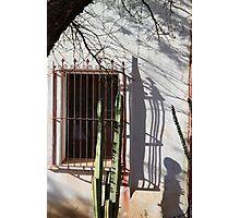 San Xavier Window and Shadows 1 Photographic Print