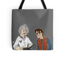 Doc Brown & Marty McFly Tote Bag