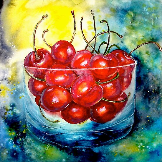 Cherries....Life is Just a Bowl of Cherries by ©Janis Zroback