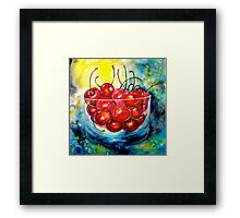 Cherries....Life is Just a Bowl of Cherries Framed Print