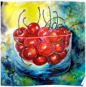 Cherries....Life is Just a Bowl of Cherries by © Janis Zroback