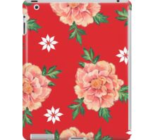 - Peony red pattern - iPad Case/Skin