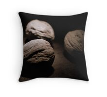 Three Walnuts in Sepia Throw Pillow