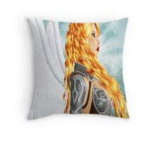 Armored Guardian: Colored Version Throw Pillow