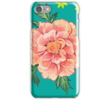 - Peony turquoise pattern - iPhone Case/Skin