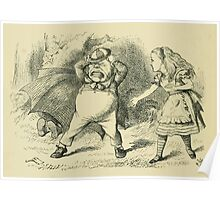 Through the Looking Glass Lewis Carroll art John Tenniel 1872 0104 Only an Old Rattle Poster