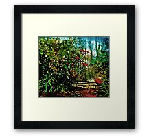 The Tale of the Basketball in the Garden Framed Print