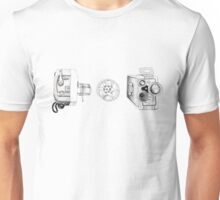 Vintage Movie Cameras Unisex T-Shirt
