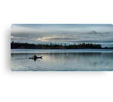 Kayaker into the Night Canvas Print