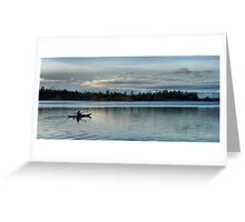 Kayaker into the Night Greeting Card