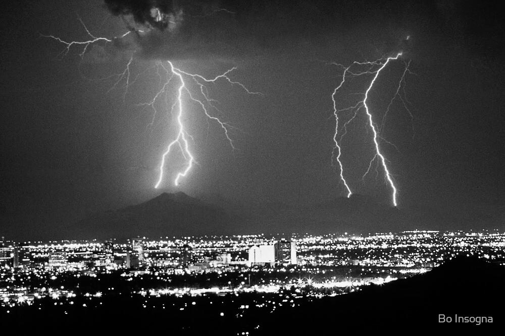 Phoenix Arizona Lightning Strikes by Bo Insogna