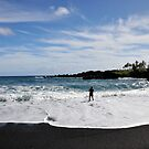 Vulcanic Black Sand Beach by Rosy Kueng