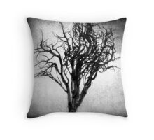 Desiccated Shrub: Black and White Throw Pillow