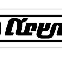 Splatoon Krak-On Text Logo Sticker