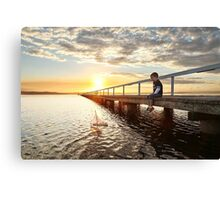 First Boat Canvas Print