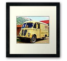 Old Yellow Vintage Delivery Van Framed Print
