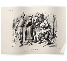 Cartoons by Sir John Tenniel selected from the pages of Punch 1901 0116 Trying it On Poster