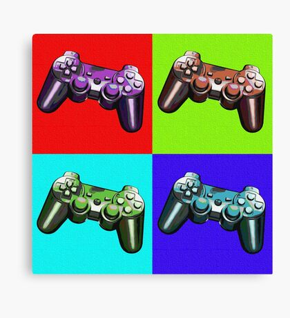 Game Controller Pop Art Canvas Print