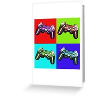 Game Controller Pop Art Greeting Card