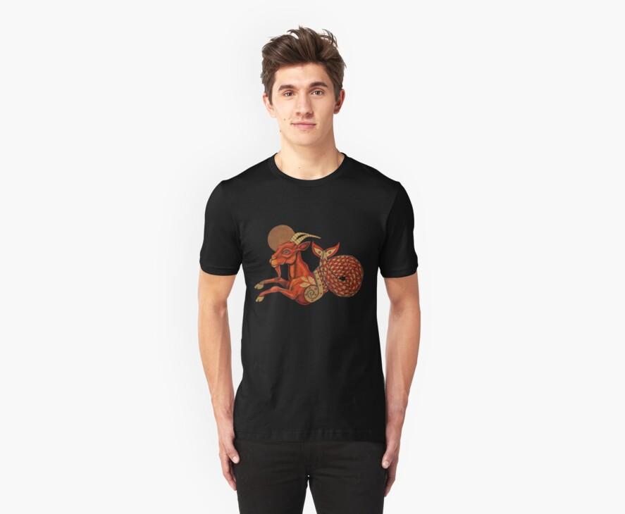 Aegipan (The Sea Goat) Tee by Lynnette Shelley