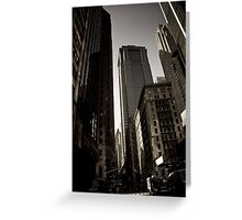 Crosswalk - Financial Square Greeting Card