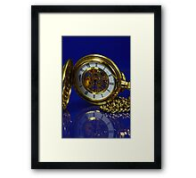 Reflections in Time - Gold and Blue Framed Print