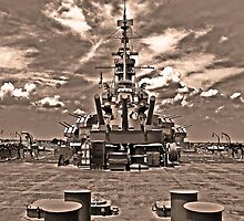 USS Alabama (rear guns) by Turtle6