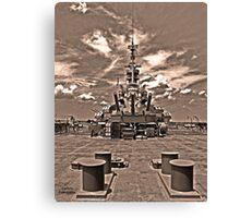 USS Alabama (rear guns) Canvas Print