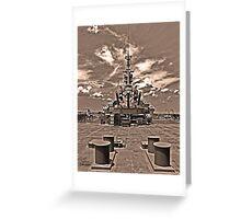 USS Alabama (rear guns) Greeting Card