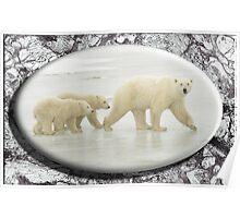 November Polar Bear Poster
