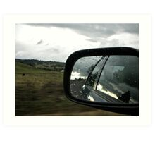 Driving on the opposite side of the road Art Print