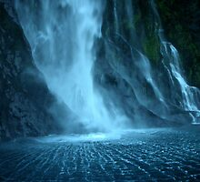 Milford Sound Waterfall by emerson