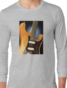 Fender Stratocaster Electric Guitar Natural Long Sleeve T-Shirt