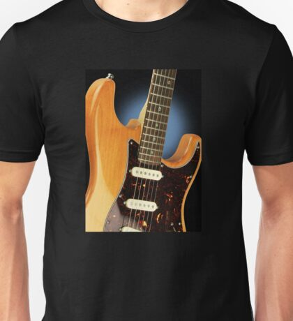 Fender Stratocaster Electric Guitar Natural Unisex T-Shirt
