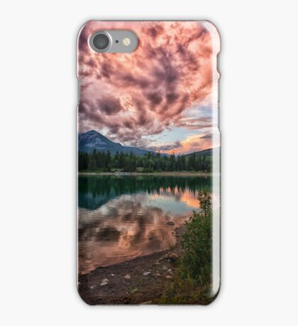 Surprise Sunset at Lake Patricia iPhone Case/Skin
