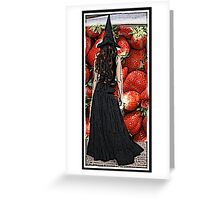 wish i was a goth rocker with strawberries in my hair Greeting Card