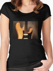 Fender Stratocaster Electric Guitar Women's Fitted Scoop T-Shirt