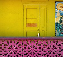 Door, Railing, St. Barts by fauselr