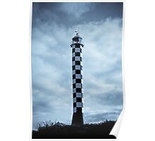 Lighthouse in Blue Poster