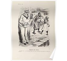 Cartoons by Sir John Tenniel selected from the pages of Punch 1901 0160 Against the Grain Poster