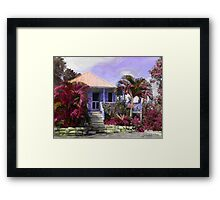 Island Cottage Framed Print