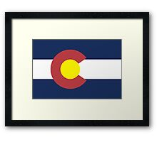 Colorado State Flag, USA Framed Print