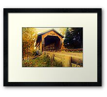 Smith Rapids Covered Bridge,Price County,Wisconsin U.S.A. Framed Print