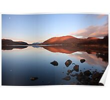 loch droma reflections. Poster