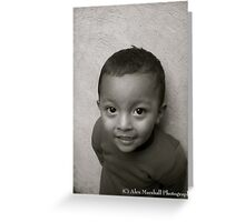 Shy but Smiling Mayan Child Greeting Card