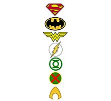 Justice League Logos Photographic Print