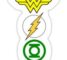 Justice League Logos Sticker
