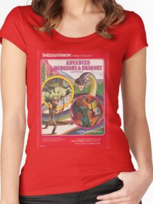 Advanced Dungeons & Dragons Cartridge Women's Fitted Scoop T-Shirt